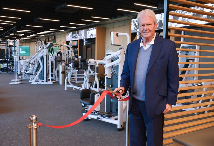 Dietmar Hopp bei der Eröffnung des Athletic Centers